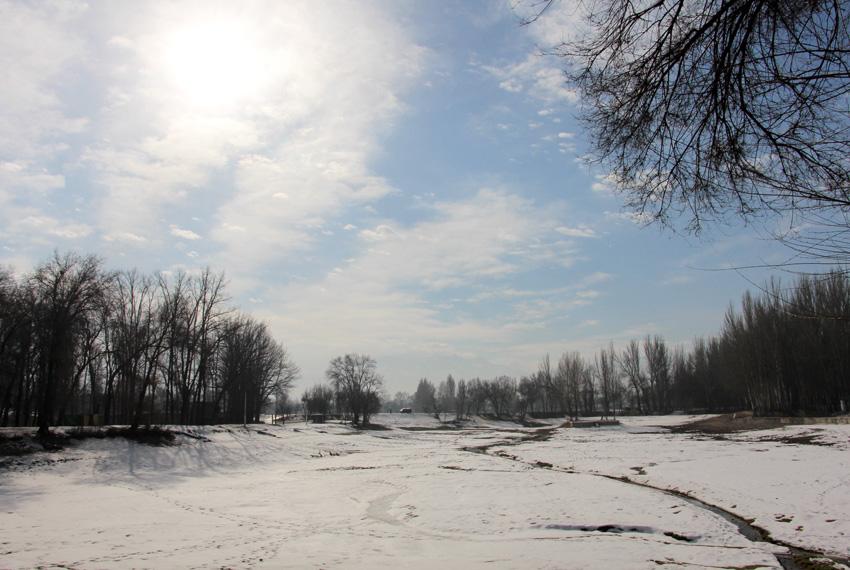 Комсомольское озеро в Карагачёвой Роще