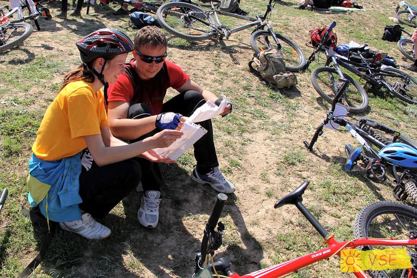 на соревновании по СО на велосипедах в Ортосае