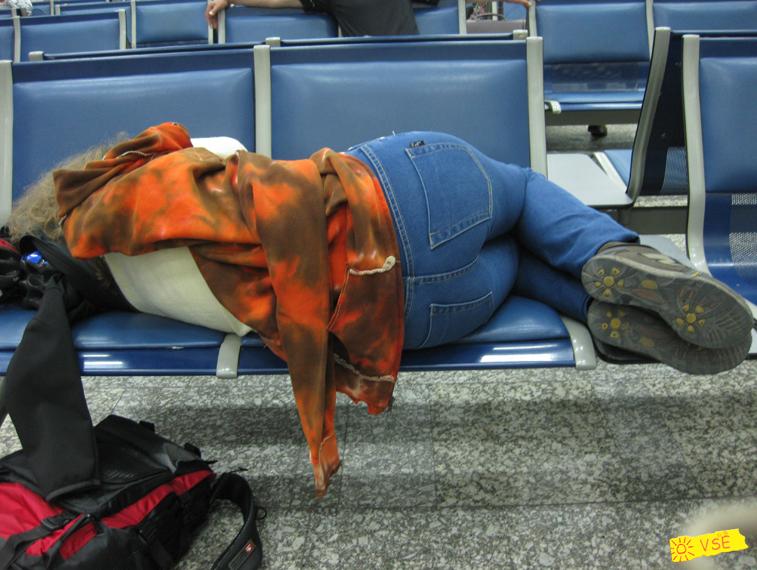 в аэропорту Манас