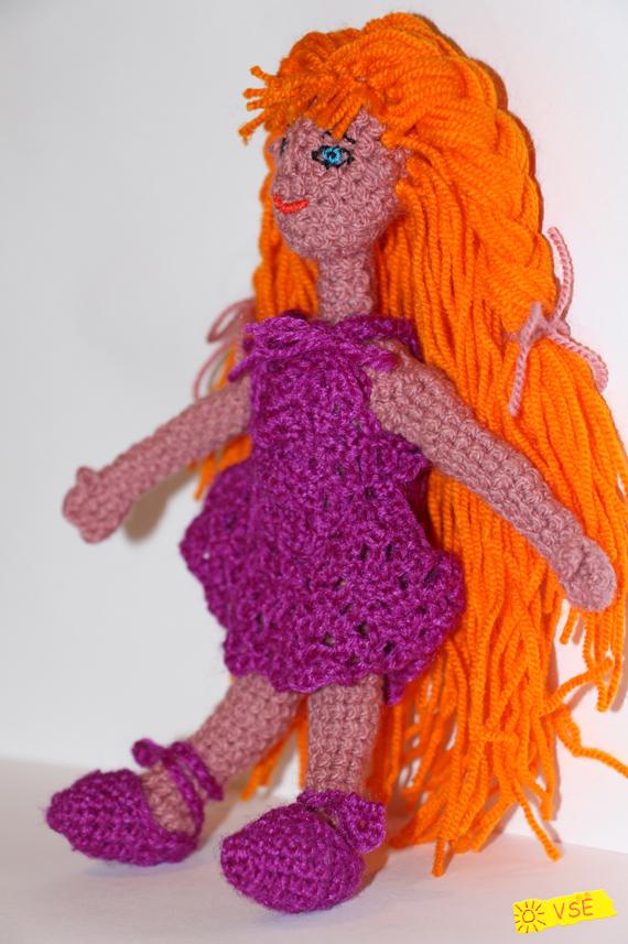 кукла, вязанная крючком