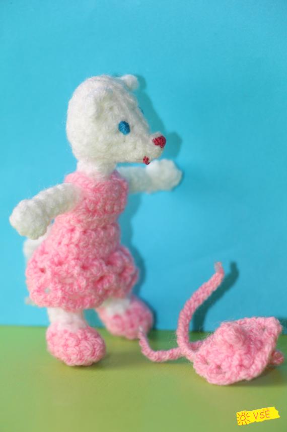 Мышка, вязанная крючком