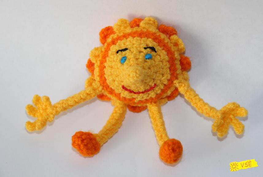 Солнышко, связанное крючком