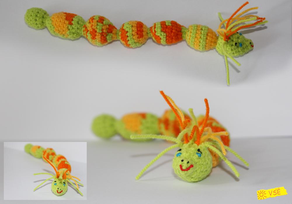 гусеничка, связанная крючком