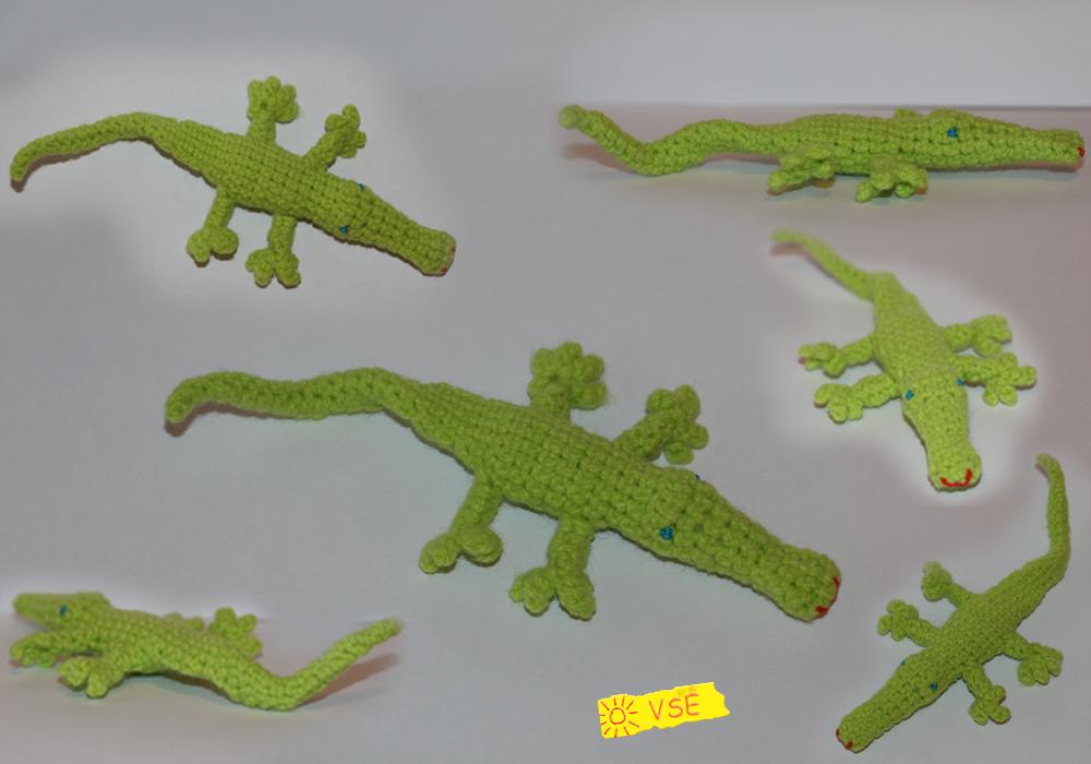 крокодльчик, связанный крючком