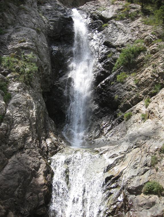 """ИК, Барскоонское ущелье, водопад """"Чаша Манаса"""""""