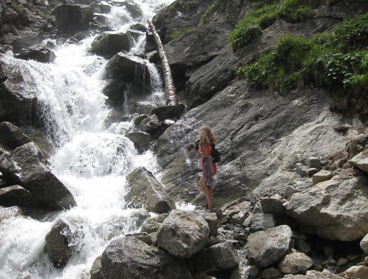 """ИК, Барскоонское ущелье, водопад """"Слёзы барса"""""""