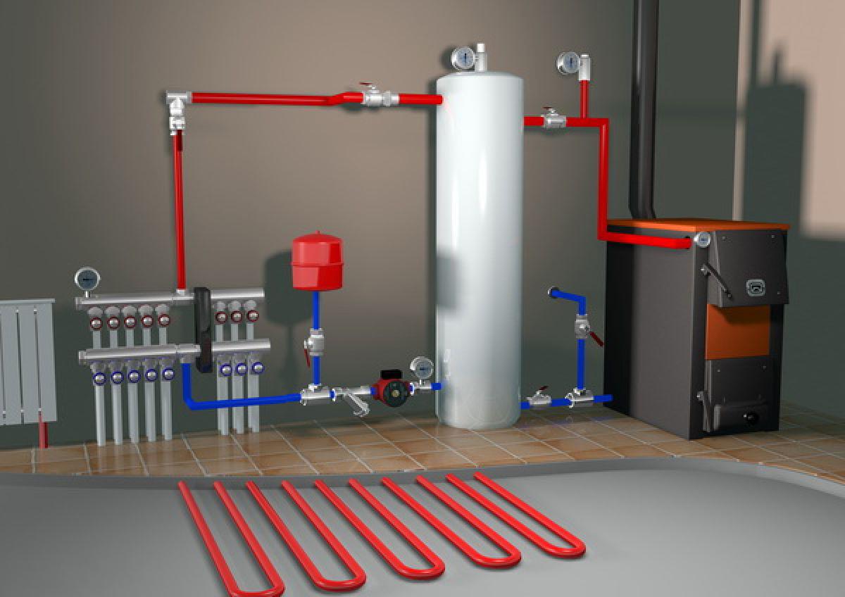 Монтаж системы отопления дачи
