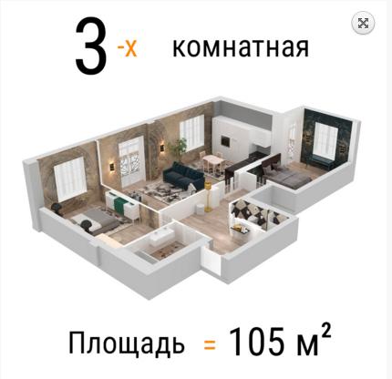 3х, 4х и 5 комнатные квартиры в Жилом комплексе Премиум класса RIVERSIDE