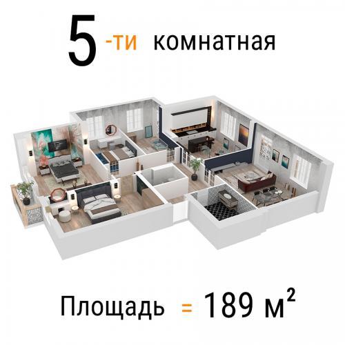 Квартиры в рассрочку в строящемся доме на набережной - 5мкр