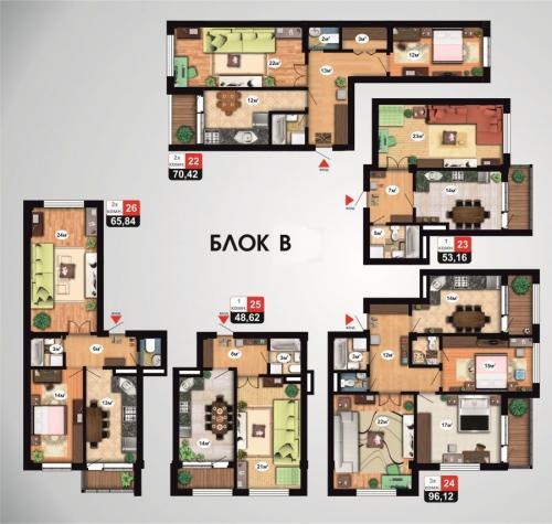 Продаю 3к. квартиру 96 м2 (СК Аалам строй)