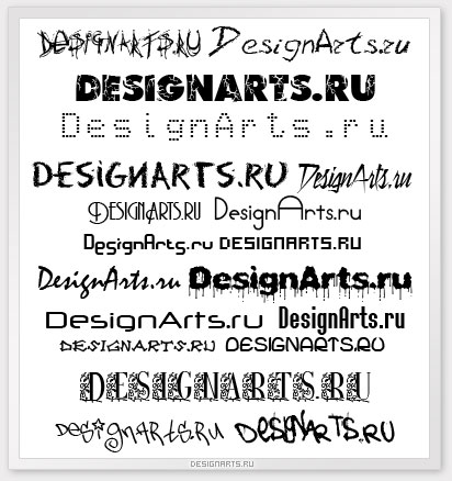 Граффити шрифты для тегов