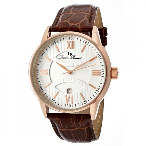 722631393916_Lucien_Piccard_Mens_Clariden_Watch__Brown_Genuine_Leather_Band_Silver_Textured_Dial_Rose_Gold_Hands__LP_11576_RG_02S_.jpg